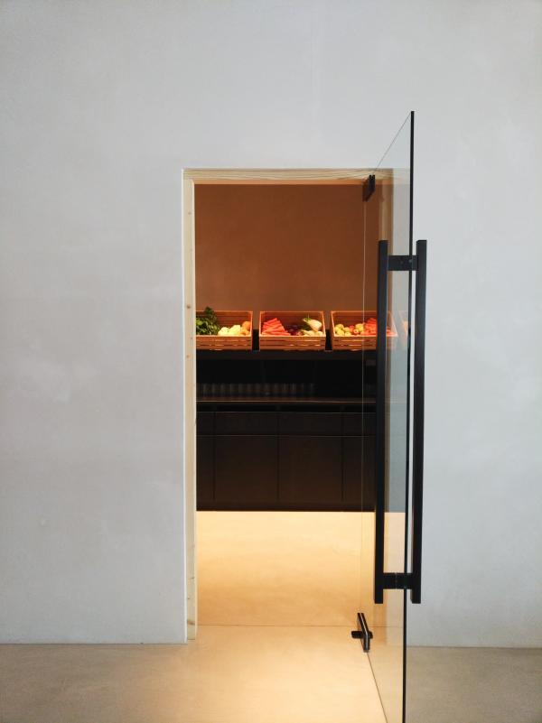 Dans une pièce adjacente, on peut créer ses propres smoothies.