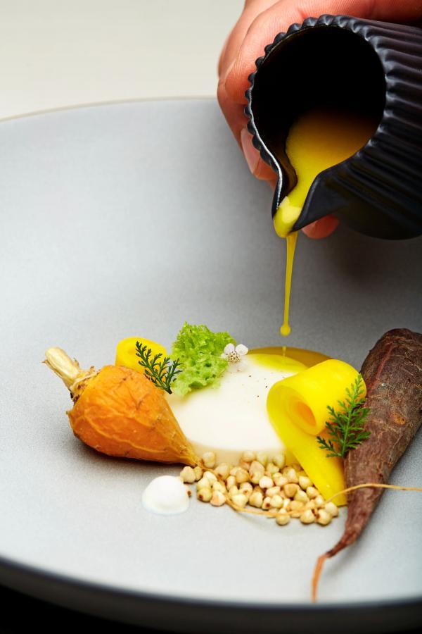 Carottes et fromage de chêvre. © Forestis