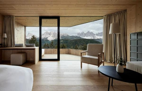 Espace et vue panoramique sont la marque des Tower Suites.  © Forestis