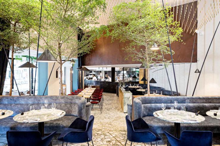 La salle à manger de ZEBRA  (Paris 16ème) © Yann Deret