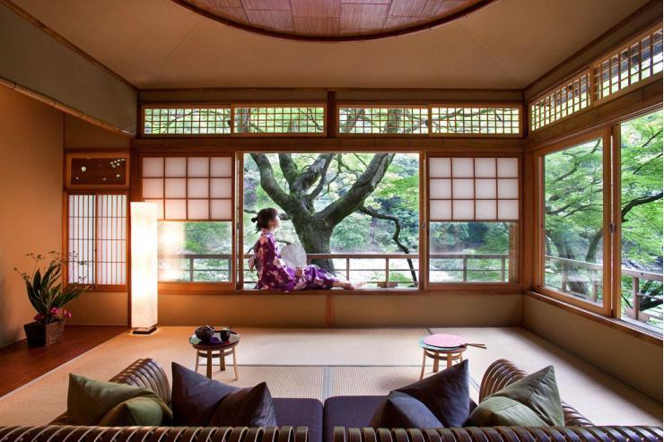 La Tsuki twin suite du Hoshinoya Kyoto  © Hoshinoya Resorts