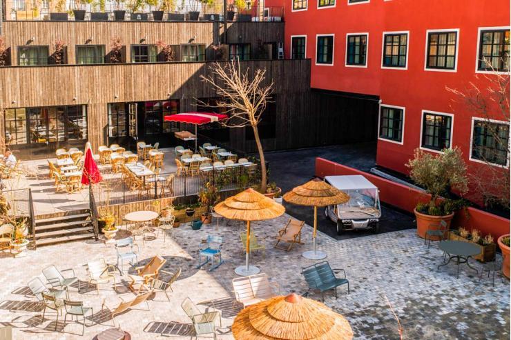 Terrasse du MOB Hôtel © Bruno Comtesse