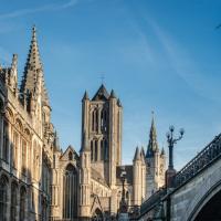 L'une des vues les plus fameuses de Gand depuis le Pont Saint-Michel © VisitGent