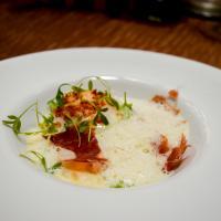 Oeuf parfait, risotto de seiche © Yonder.fr