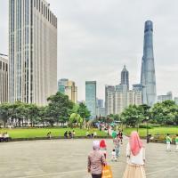 Vue sur Pudong depuis le Gucheng Park, non loin du Yu Garden © Yonder.fr