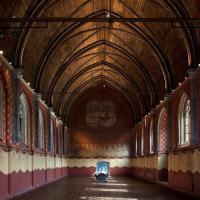 Le réfectoire de l'abbaye cistercienne de Bijloke (14ème s.) fait partie du circuit de l'exposition permanente du STAM © Phile Deprez