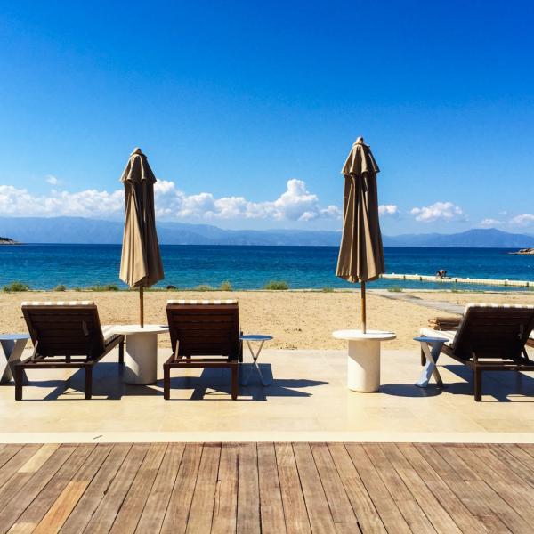 Vue sur la mer depuis le Beach Club de l'hôtel © Yonder.fr