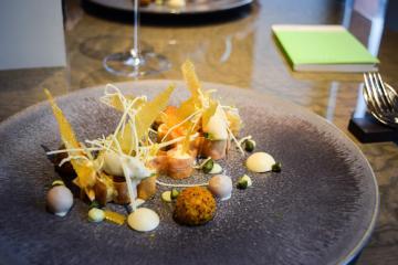 Dessert à la sophistication extrême chez 't Zilte à Anvers © Yonder.fr
