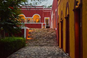 Fin de journée à l'Hacienda Temozon © Yonder.fr