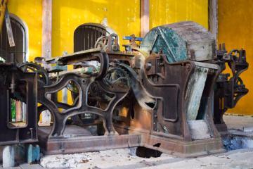 De nombreux outils et machines de l'époque témoignent de ce passé industriel © Yonder.fr