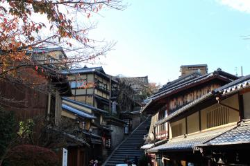 Escalier Sannenzaka (temple de Kiyomizudera) à Kyoto | © Aurélie Morin