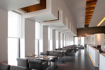 Le restaurant 't Zilte est installé au dernier étage du MAS, le plus grand musée de la ville © MAS / Bart Van Leuven