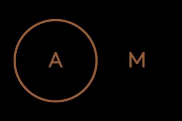Le logo épuré du restaurant AM par Alexandre Mazzia ©AlexandreMazzia
