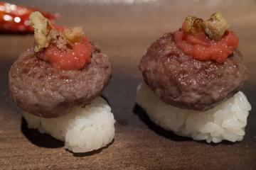Mini-hamburger Wagyu.