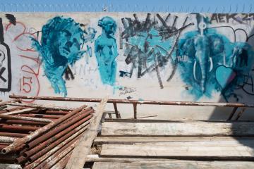 Encore du street art sur le chemin de l'Acropole...