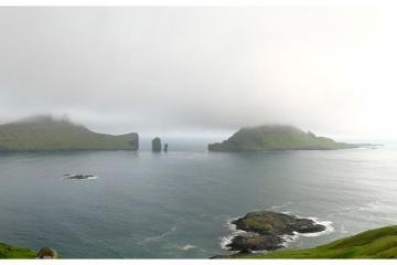 Vue panoramique de Sørvágsfjørður.