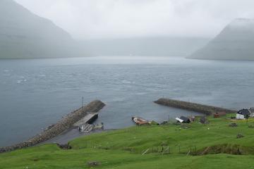 Embarcadère à Kalsoy.