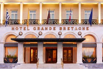 La façade de l'hôtel Grande Bretagne sur Syntagma... | © Starwood