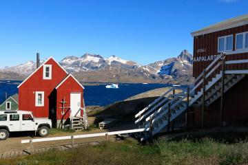 La Red House en été, Tasiiilaq.