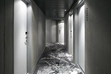 Le couloir  du Mama Shelter ©Mama Shelter