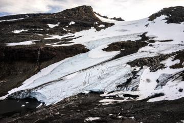 Le glacier de Kårsa.