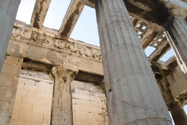 Le magnifique temple d'Héphaïstos dans l'ancienne Agora.