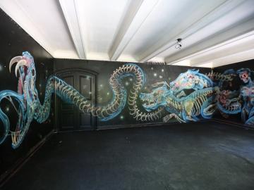 Les fameux dessins de Nychos habillent les murs de la Villa ©VillaAlliv