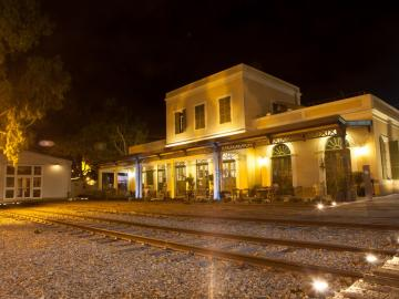 La Tahana by night - l'ancienne gare ferroviaire rénovée. © Flickr CC Israel Tourism