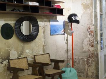 Les matériaux sont restés les mêmes chez JOGGING afin de laisser au lieu l'empreinte de son histoire © OlivierAmsellem