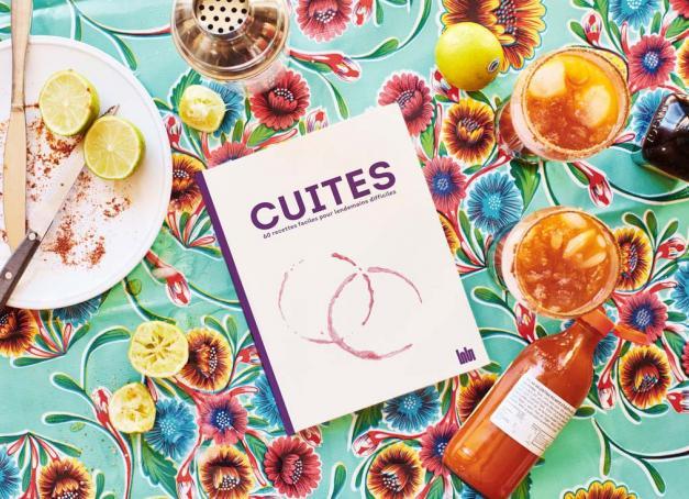Dans « Cuites », 60 chefs français — Meilleurs Ouvriers de France, chefs étoilés et branchés de la nouvelle scène food — livrent leurs recettes fétiches pour assurer un lendemain de soirée bien (trop) arrosé. Un livre qui remet la convivialité au centre de la gastronomie.