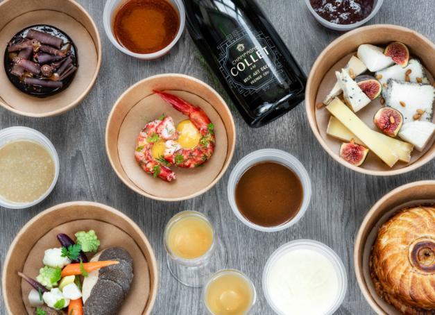 Grands vins et produits du terroir, la gastronomie des plus grands chefs provençaux se déclinent sous forme de vente à emporter à l'heure du reconfinement.